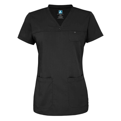 Adar - uniforms Medical Uniform Tops uniforms online Adar Indulgenc Jr. Fit Stitched Curved V-Top - SchoolUniforms.com