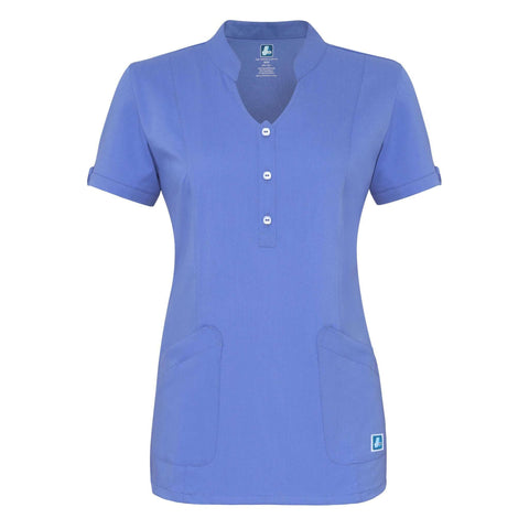 Adar - uniforms Medical Uniform Tops uniforms online Adar Indulgenc Jr. Fit Womens Keyhole Top - SchoolUniforms.com