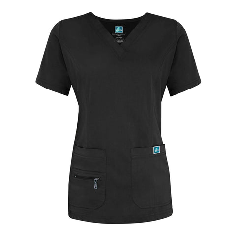 Adar - uniforms Medical Uniform Tops uniforms online Adar Indulgence Jr. Fit Enhanced V-neck Top - SchoolUniforms.com