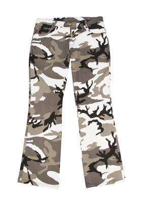 frankbeeinc - uniforms  uniforms online Women's City Camouflage Stretch Flare Pants - SchoolUniforms.com