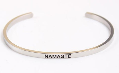 Hand Stamped Inspirational Bangles