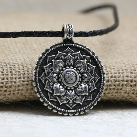 an chain gorgeous embellished il au flower necklace spiritual life of rgkz or pendant a yoga on listing