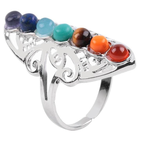 Chakra Natural Stones Finger Ring