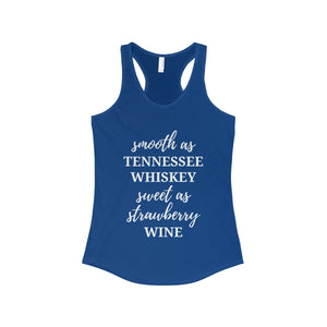 Smooth As Tennessee Whiskey Women's Racerback Tank