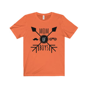 Mom Of Boys Unisex Jersey Short Sleeve Tee
