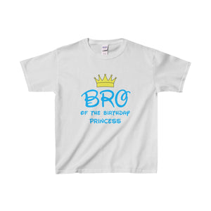 Bro Of The Birthday Princess Kids Shirt