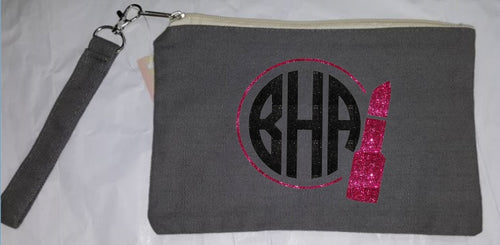 Monogrammed Make Up Bag / Wristlet