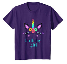 Unicorn Kids Birthday Shirt