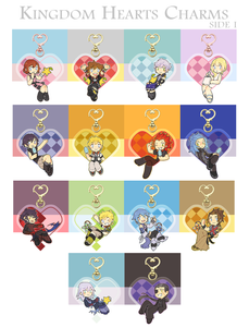 Kingdom Hearts Charms