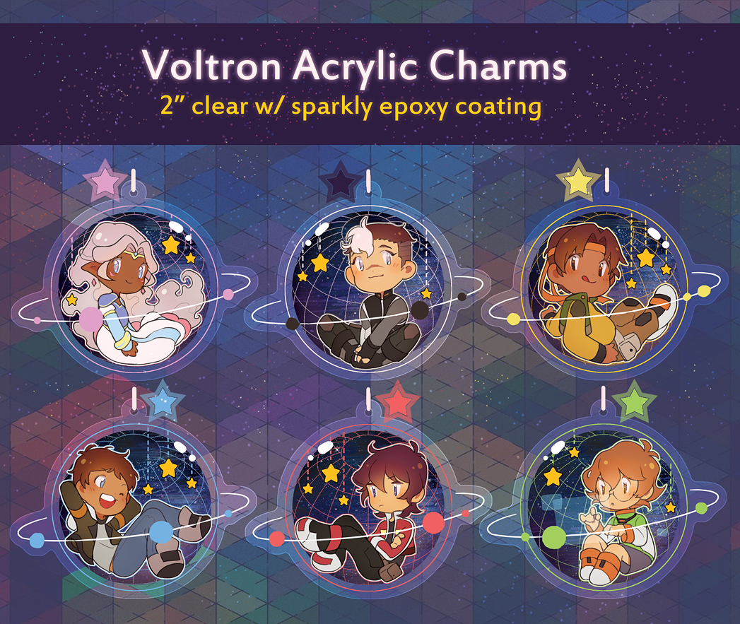 Voltron: Legendary Defender Charms