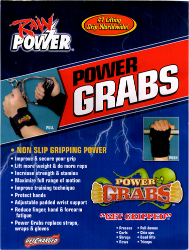Power Grabs Lifting Grips x3