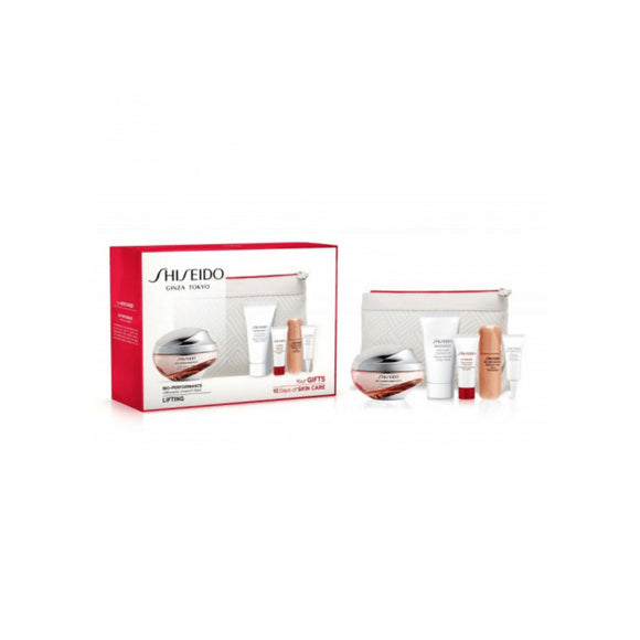 Shiseido bio performance lift dynamic crema 50ml + crema de ojos 3ml + serum 7ml + ultimune concentrado 5ml + benefiance jabon limpiador 30ml + neceser