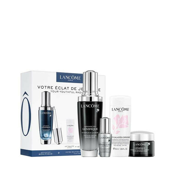 Lancome genifique serum 50ml + crema 15ml + crema de ojos light pearl 5ml + leche desmaquillante confort 50ml