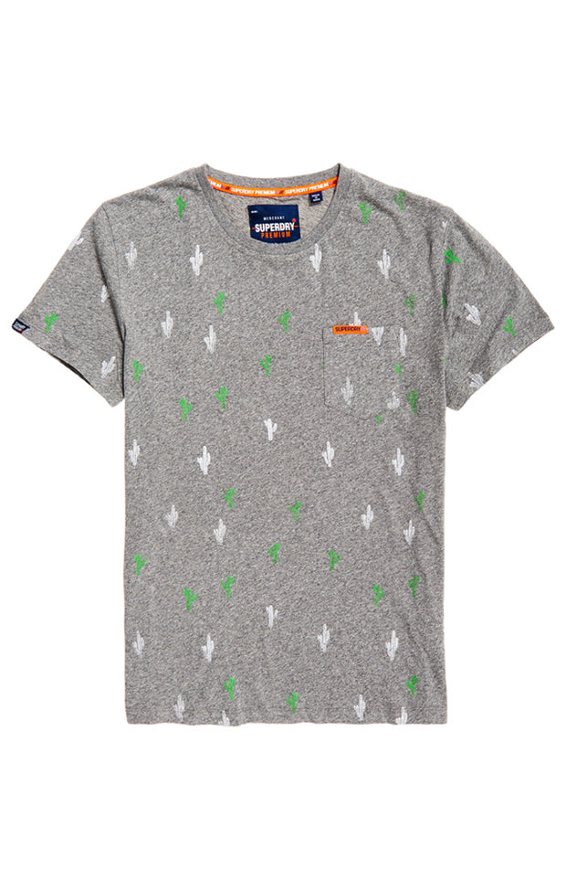 Superdry- T-shirt Fantasia all over print