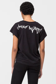 T-Shirt girocollo donna Droop Logo Cheap Monday