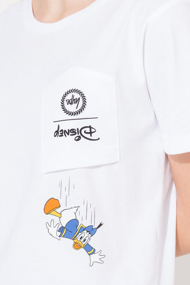 T-shirt con taschino Donald
