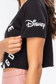 T-shirt cropped Hype per Disney