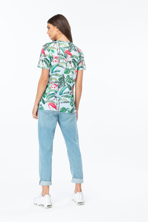 Hype- T-shirt Flamingo Paradise