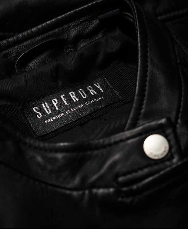 Superdry- Giacca in pelle Lyla Racer