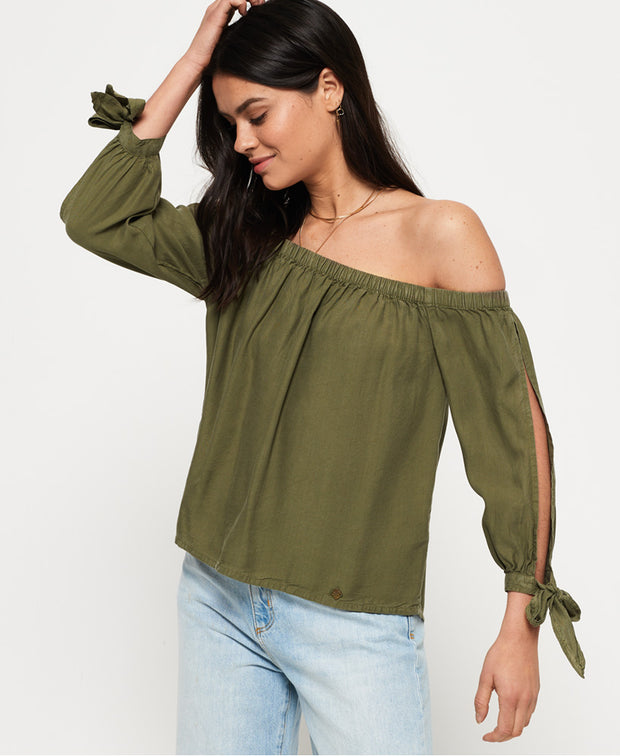 Superdry- Blusa shoulder-off