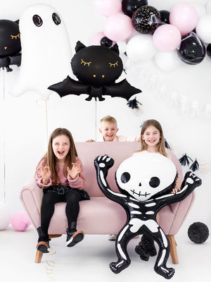 Pink Halloween Party in a box Skelett Ballon