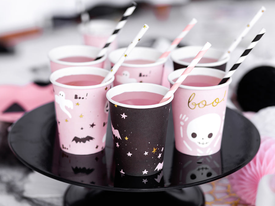 Pink Halloween Party in a box Pappbecher