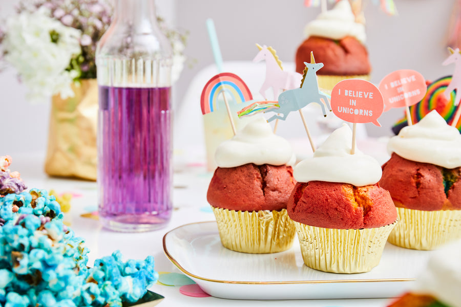 Magical Unicorn in a box Tischdekoration Cupcakes Cupcake Topper