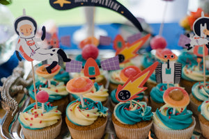 Space Party aus der Box Cupcakes
