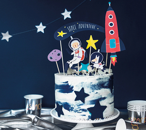 Space Party in a box Cake Topper