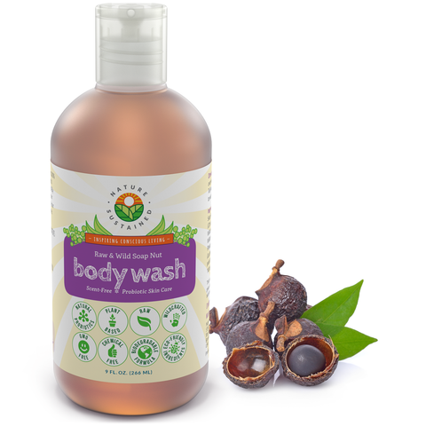 Raw & Wild Soapberry Body Wash for Sensitive & Dry Skin