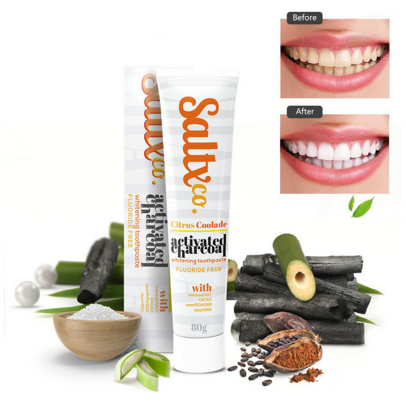 Activated Charcoal Fluoride Free Toothpaste - Citrus Coolade