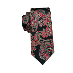 Emprezario Paisley Dragon Necktie w/ Handkerchief - Venture Travel City