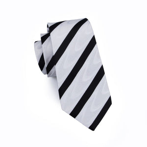 Striped Necktie W/Handkerchief