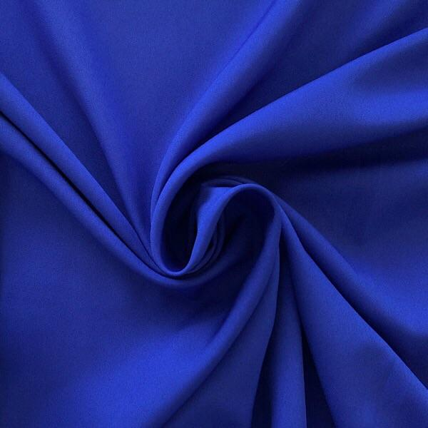 Plain Blue Polyester Fabric - Sew Royal