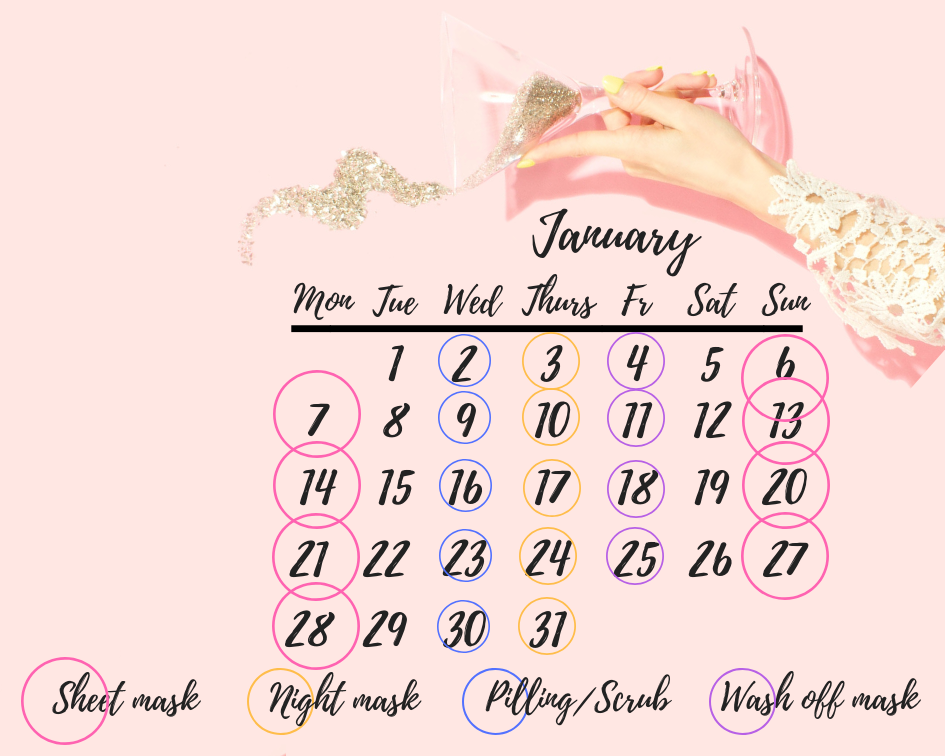 January Beauty Calendar