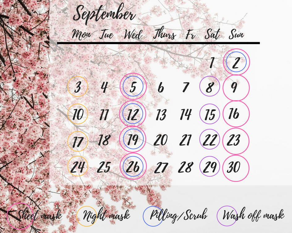 September Beauty Calendar