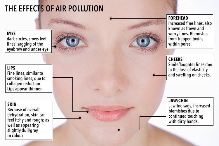 pollution effect on your skin