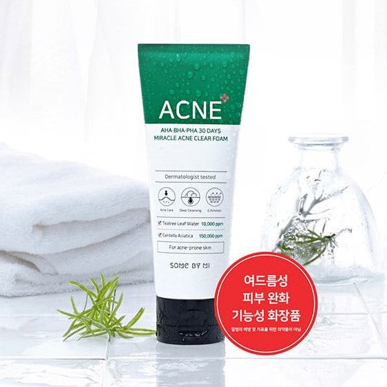 Some BY Mi AHA BHA PHA 30 days Miracle Acne Cleanser Foam