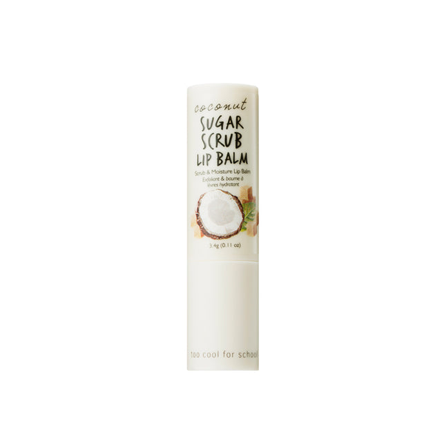 Too Cool for School Coconut Sugar Scrub Lip Balm