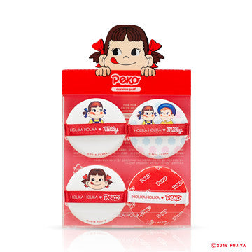 Holika Holika Sweet Peko Hard Cover Glow Cushion Cushion Puff 4 ea