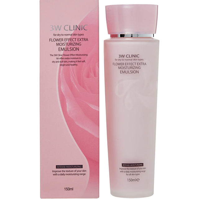 3W Clinic Flower Effect Extra Moisturizing Emulsion