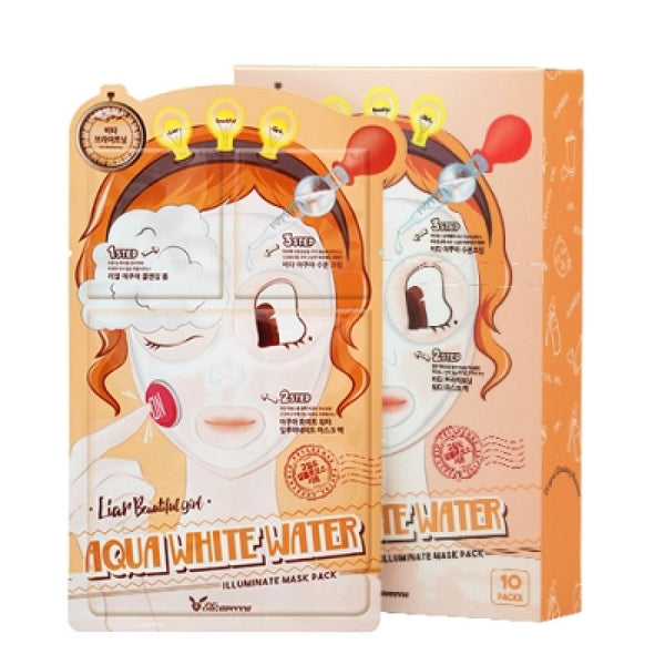 Elizavecca Liar Beautiful Girl 3-Steps Mask Pack (10 masks)