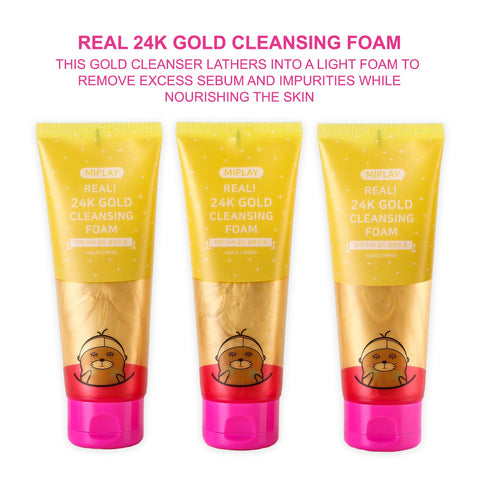 MIPLAY Real! 24K Gold Cleansing Foam