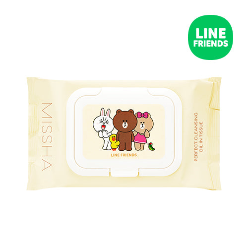 Missha Super Aqua Perfect Cleansing Oil in Tissue (Line Friends)