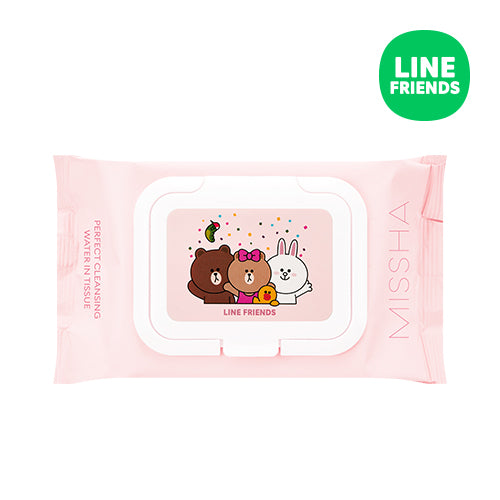 Missha Super Aqua Perfect Cleansing Water In Tissue  (Line Friends)