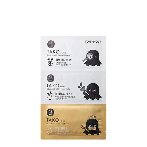 TonyMoly Tako Pore Gold King 3 Step Nose Pack