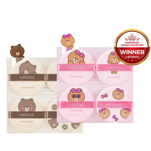 Missha Tension Pact Puff 4 ea (Line Friends)