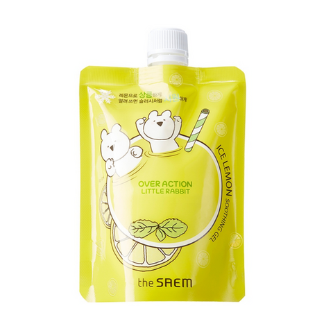 The SAEM Ice Lemon Soothing Gel For Face Refill (Over Action Little Rabbit Edition)