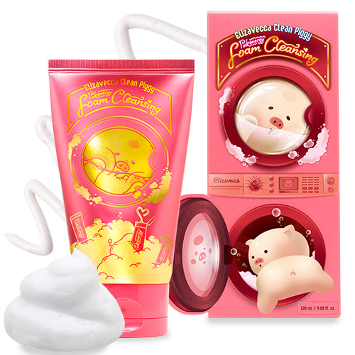 Elizavecca Clean Piggy Pink Energy Foam Cleansing