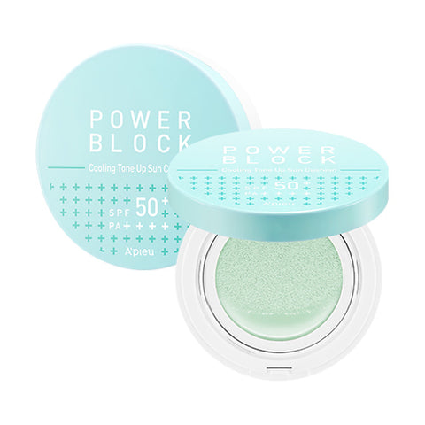 A'PIEU Power Block Cooling Tone Up Sun Cushion SPF50+ PA++++
